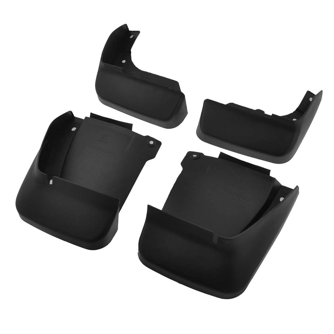 4 in 1 Front Rear Full Plastic Splash Guards Mud Flaps Black Set for Honda