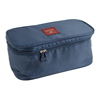 Grid Pattern Dark Blue Nylon Foldable Underwear Storage Bag