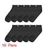 Girls Low Cut Ankle Socks 10 Pairs Black