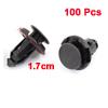 100 Pcs Auto Cars Bumper Fender 9mm Hole Push Mini Plastic Rivets Clip Black