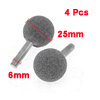 25mm Diameter Round Shaped Head Diamond Mounted 4 Pcs Grinding Tool