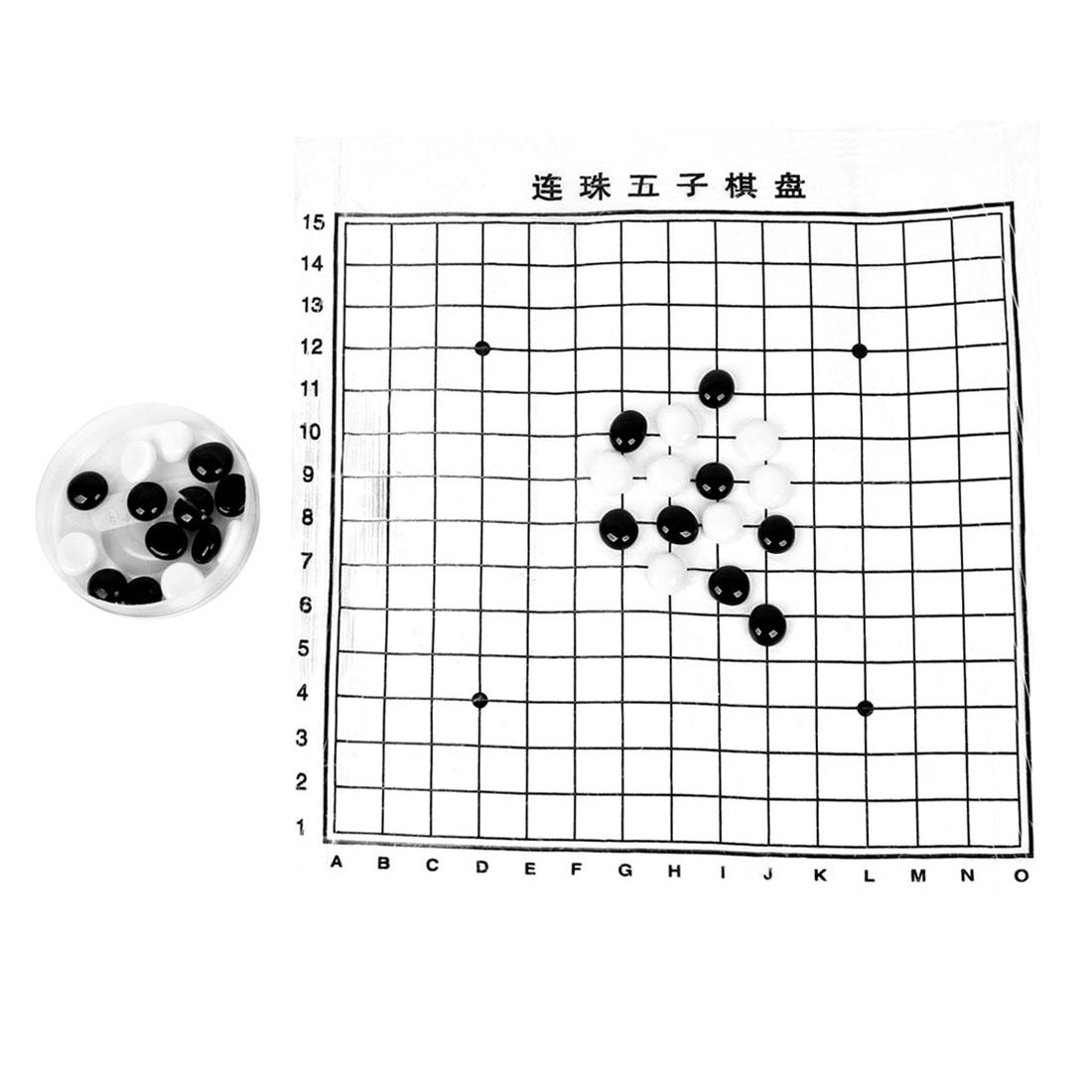Kids Plastic Chess Holder Box Five in a Row Game Gobang WU ZI QI Set