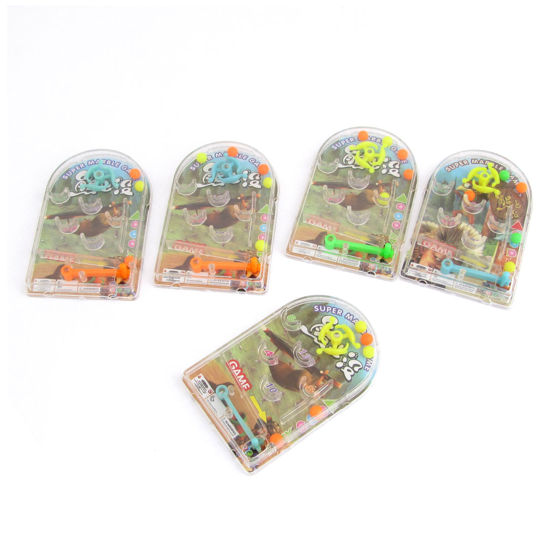 5 Pcs Spring Design Pinball Marble Game Intelligent Toy for Children