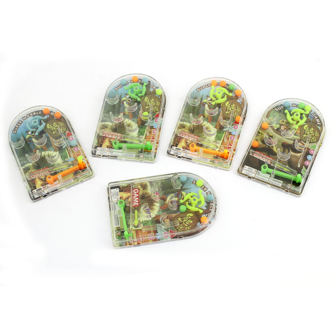 5 Pcs Plastic Pinball Marble Game Intelligent Toy Gift for Kids