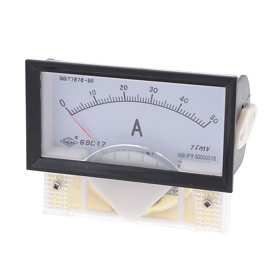69C17 DC 0-50A Rectangle Panel Analogue Ammeter Current Meter