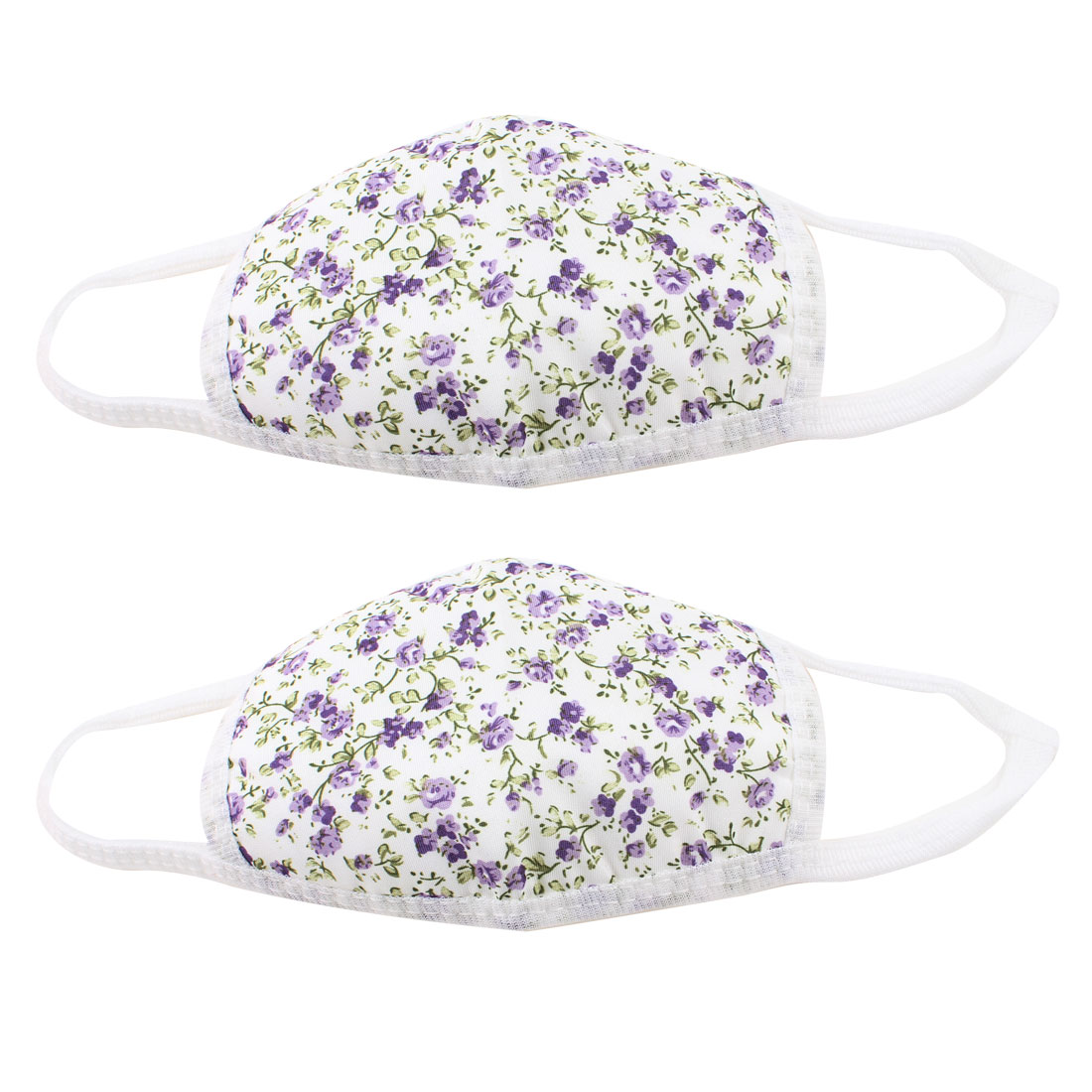 Child Outdoor Dust Proof Stretchy Strap Earloop Face Mask Lavender 2 Pcs