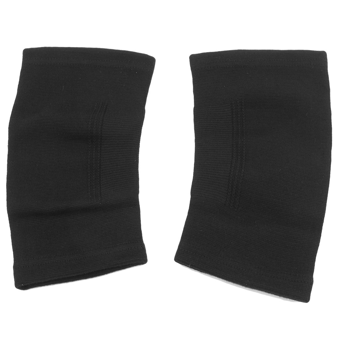 Sports Knitted Stretchy Pullover Knee Support Protector Brace Wrap Black Pair