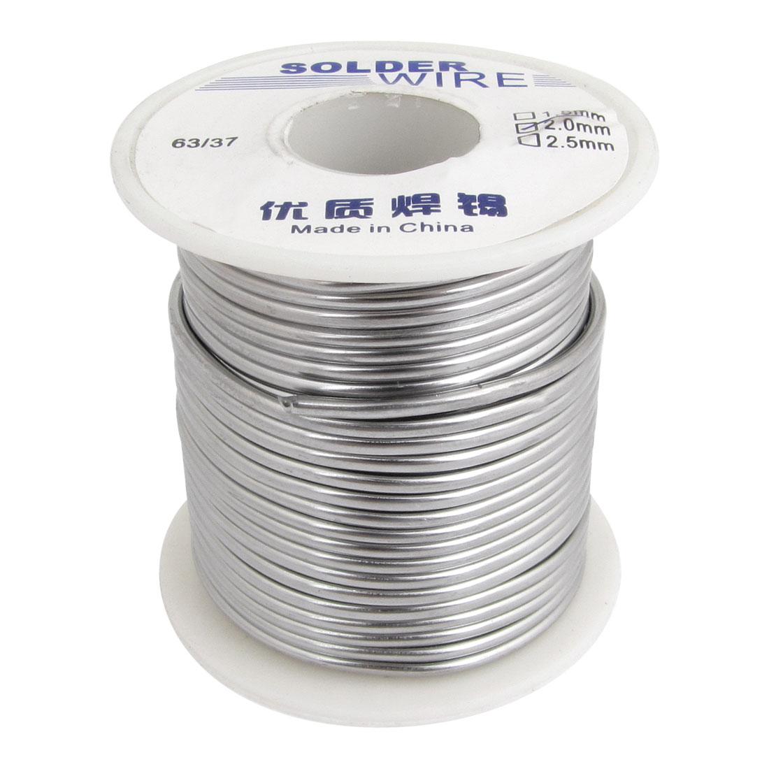 2.0mm Diameter 63/37 Tin Lead Roll Alloy Weld Solder Wire Spool Reel