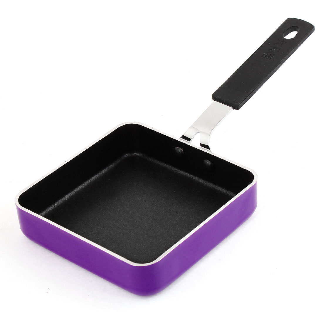 Home Cooker Tool Black Handle Purple Square Non-cohesive Egg Cook Frying Pan