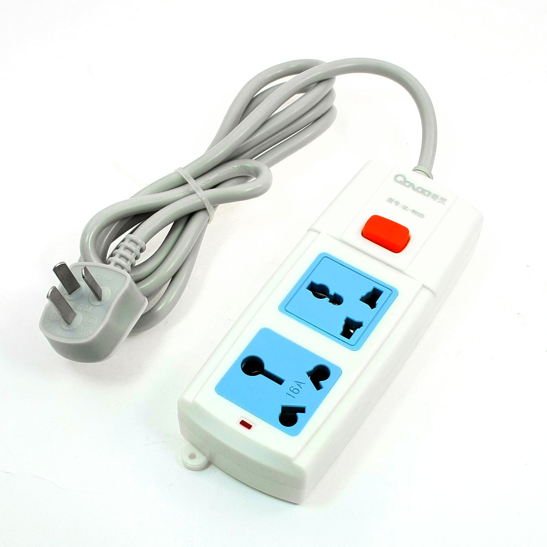 AU Plug AC 250V Multi Type Socket Power Strip 2 Outlet Splitter 1.7M