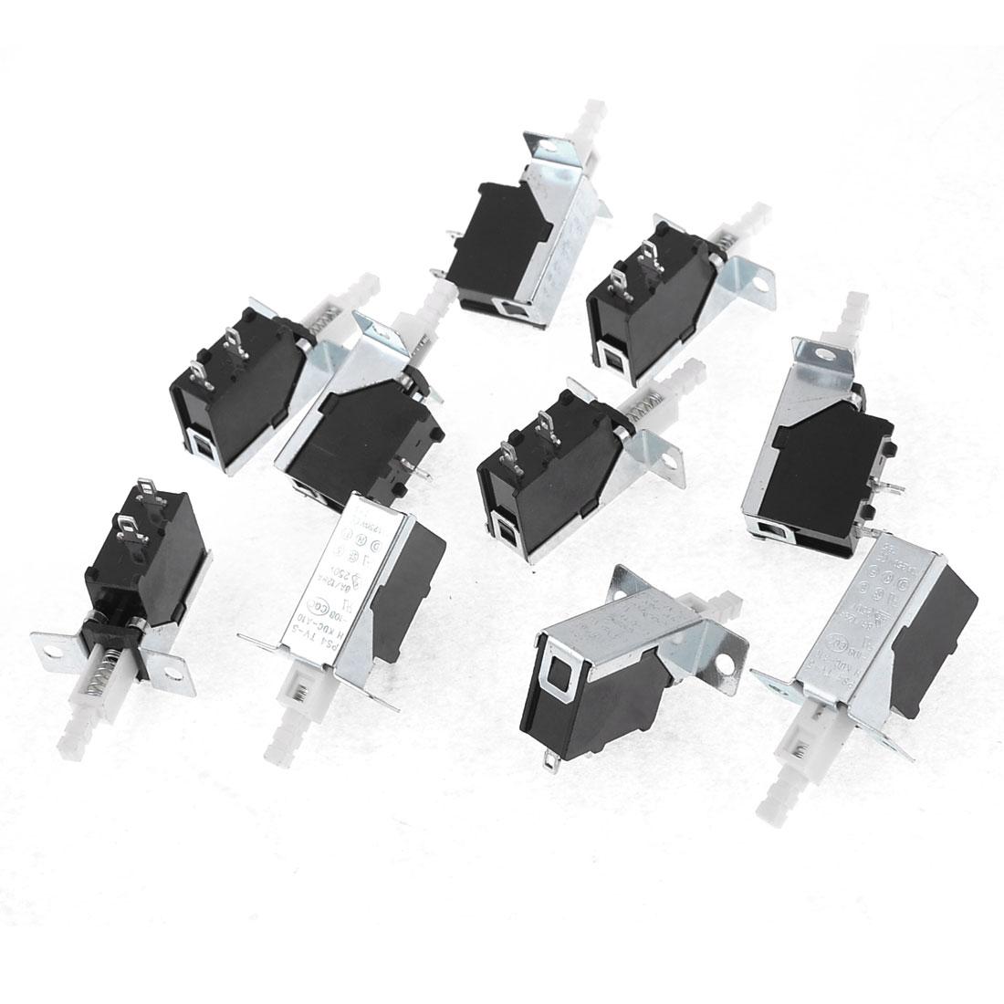 10 Pcs KDC-A10-10B AC 250V 10A SPST Push Button Power Switch