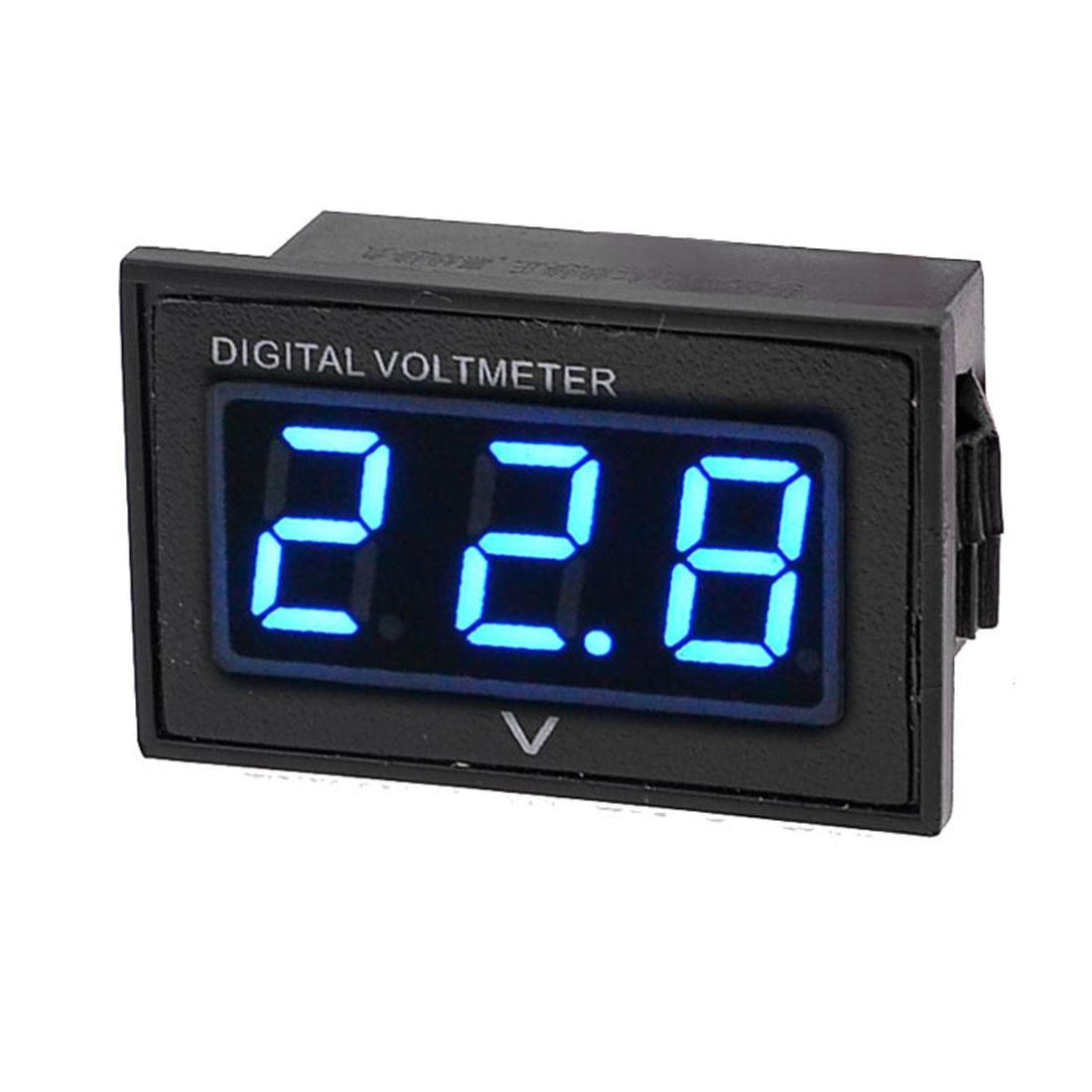 Waterproof 3 Digits DC 15-120V Voltage Meter LED Digital Display