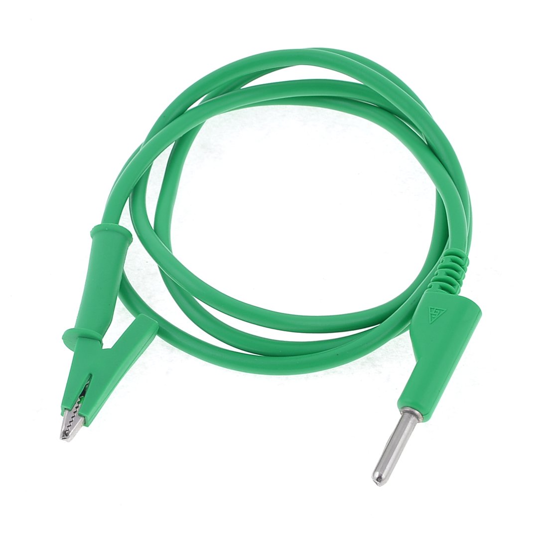 Green PVC Banana Connector to Alligator Test Probe Cable Clamp 1M