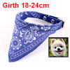 Pet Doggie Puppy Blue Paisley Pattern Triangle Scarf Bandana Collar Necklaces