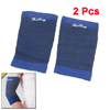 Black Dark Blue Striped Stretchy Elbow Support Sleeve Guard Pair