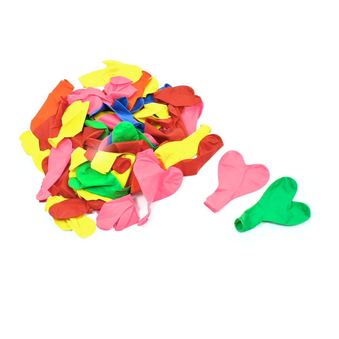 78 Pieces Colorful Heart Shaped Latex Balloons for Festival Xmas Party
