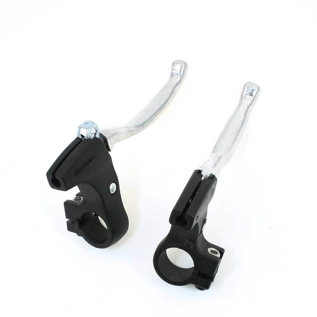 2 Pcs Black Silver Tone Bicycle Bike V-Brake Safty Brake Lever