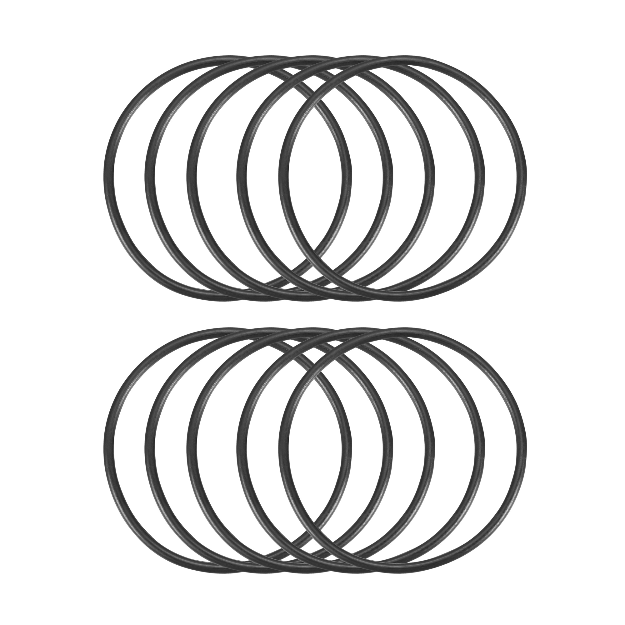 10 Pieces 32mm x 35mm x 1.5mm Black Rubber Seal O Rings Gaskets