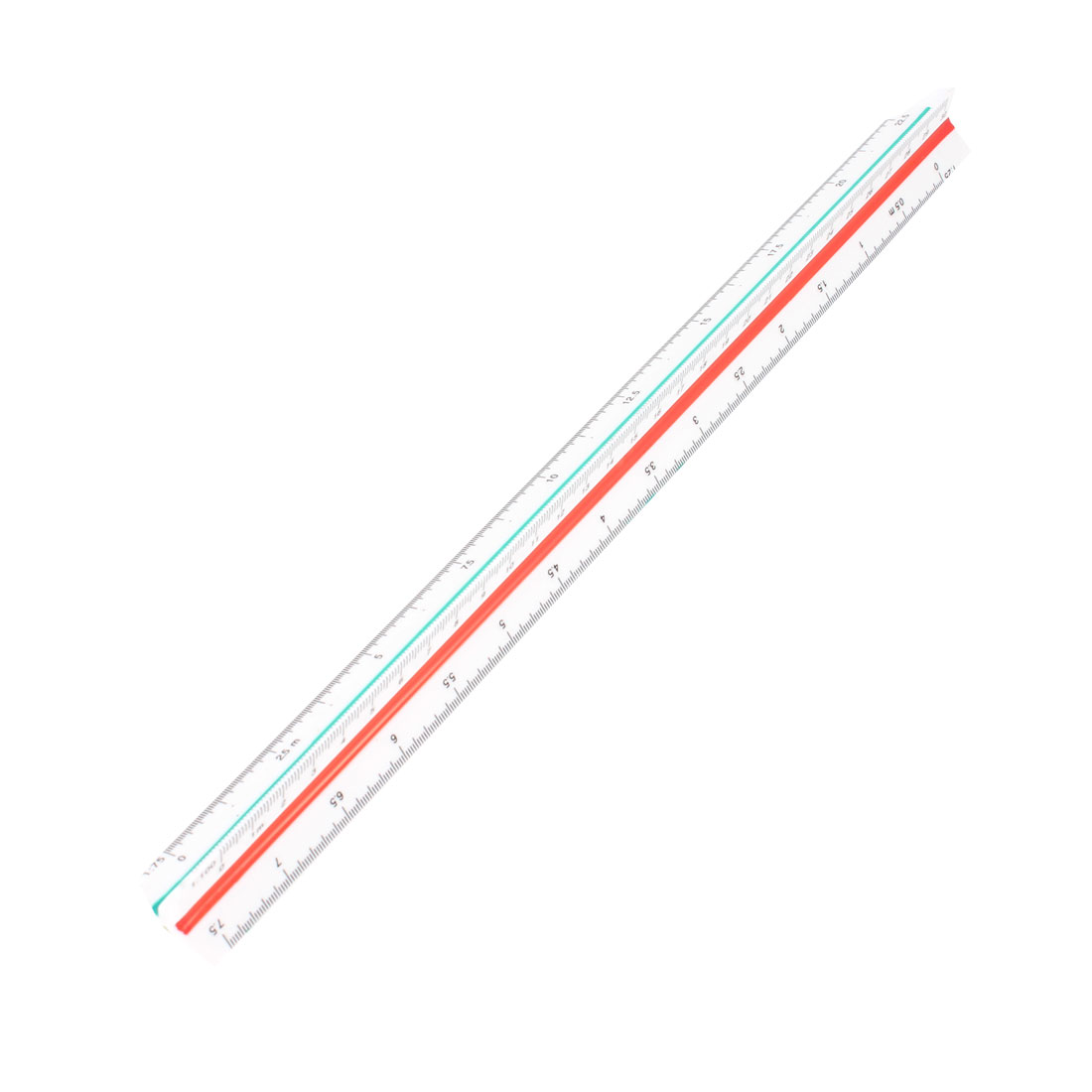 Draughtsman Architect Triangular Triangle Metric Scale Ruler 1:20 1:25 1:50 1:75 1:100 1:125
