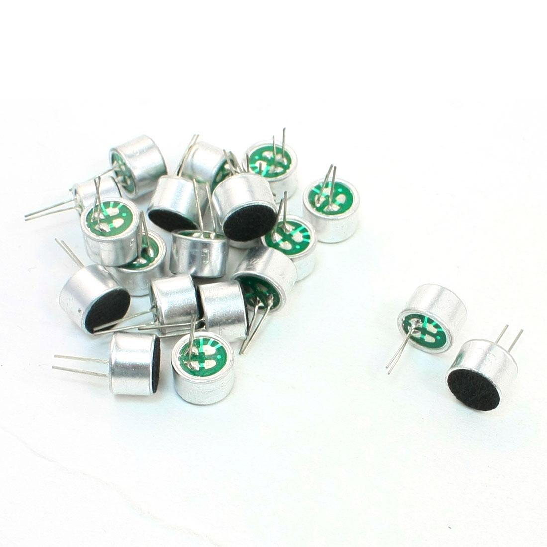 Aluminum Housing Stereo 46dB Full-Directional Electret Microphone 20Pcs