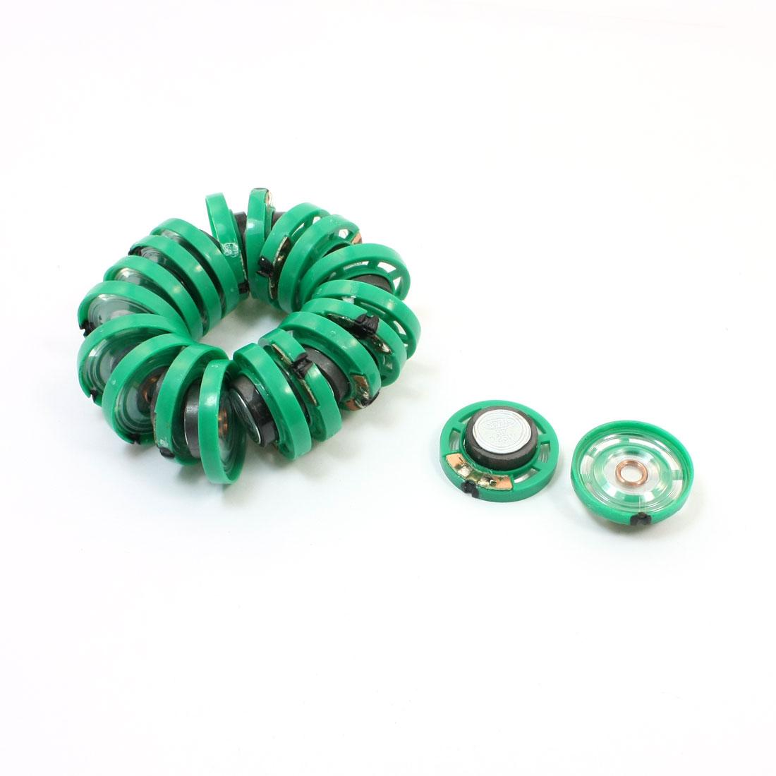 20Pcs 0.25W 8ohm 85db 27mm Diameter Speaker Green for Door Bell