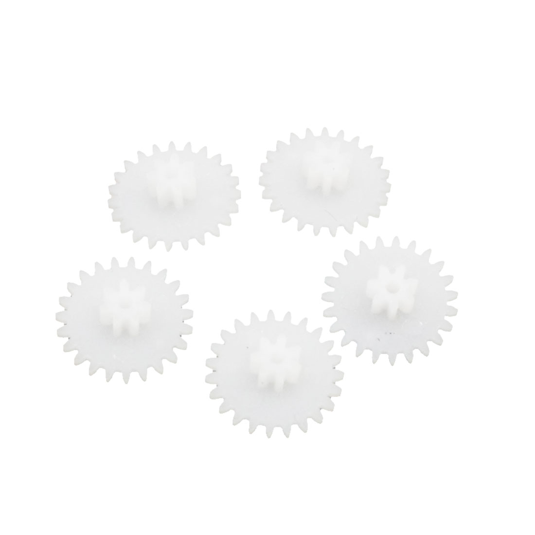 RC Toys 1mm Drive Shaft Dual Deck Plastic Reduction Gear White 5PCS