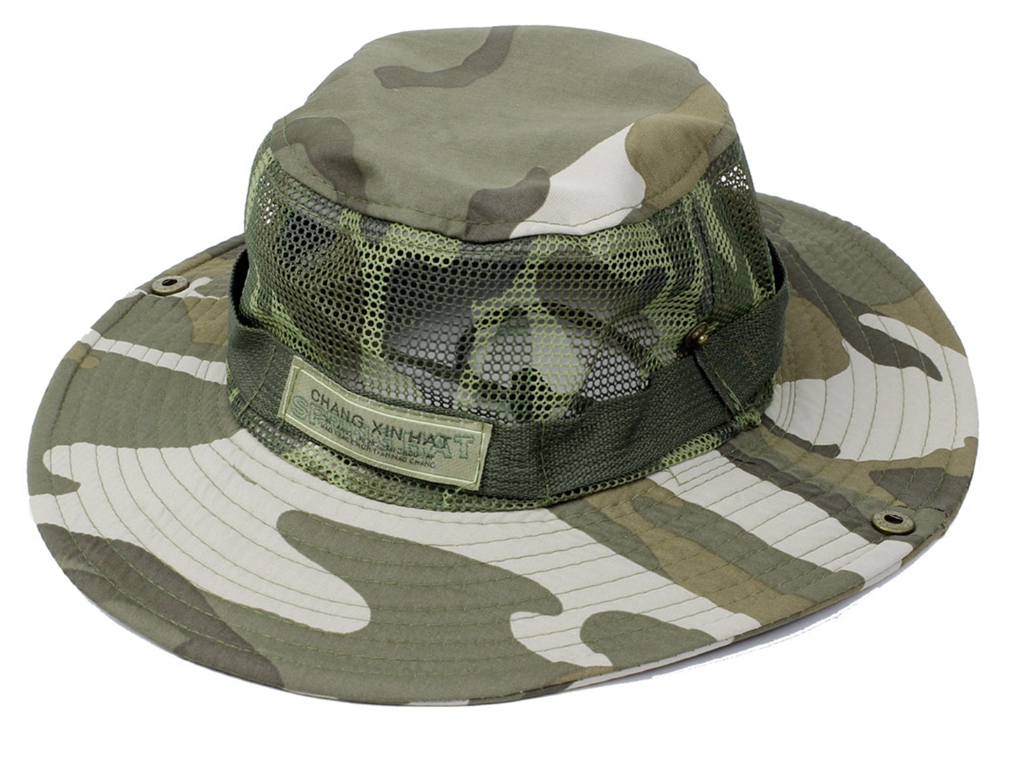 Man Mesh Design Top Camouflage Pattern Fishing Sun Shield Hat Cap