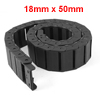 Flexible Semi Enclosed Towline Drag Chain Carrier 18mmx50mm