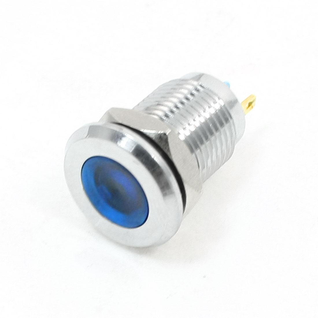 12mm Panel Mounting Blue Indicator Light Pilot Signal Lamp DC 24V
