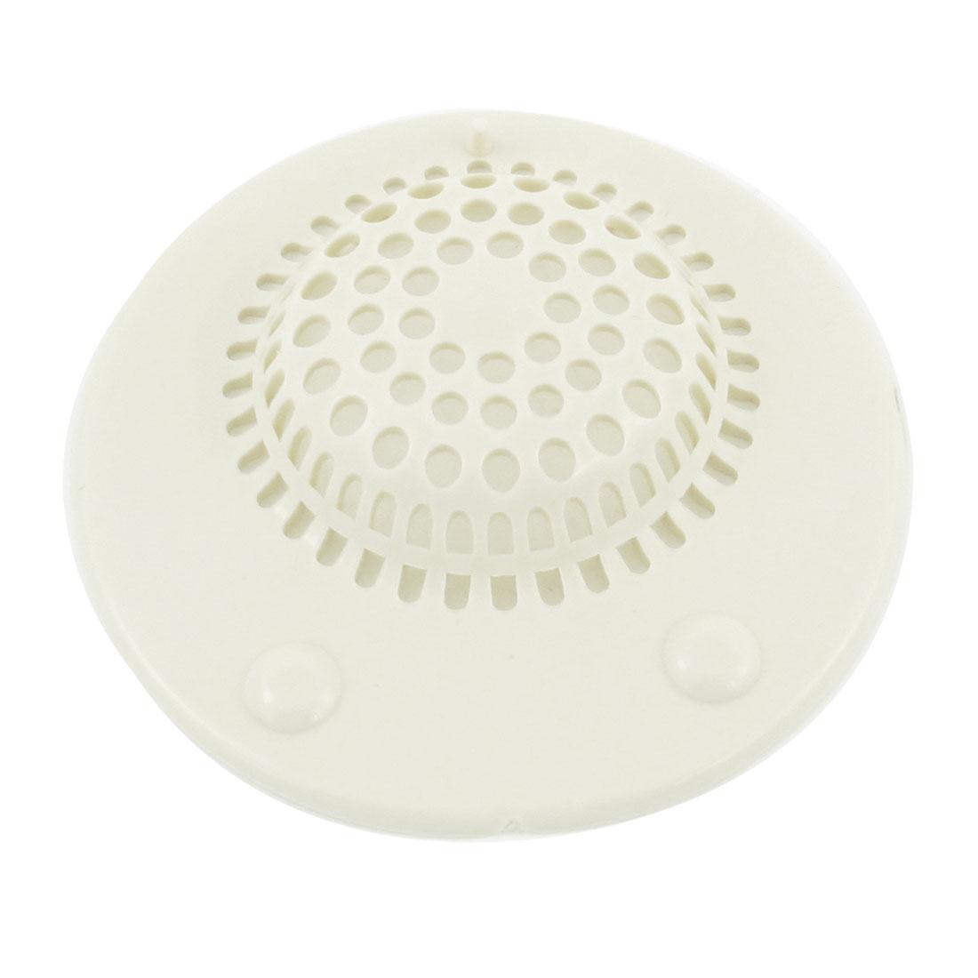 White Rubber Round Shape Kitchen Sink Strainer Drain Stopper