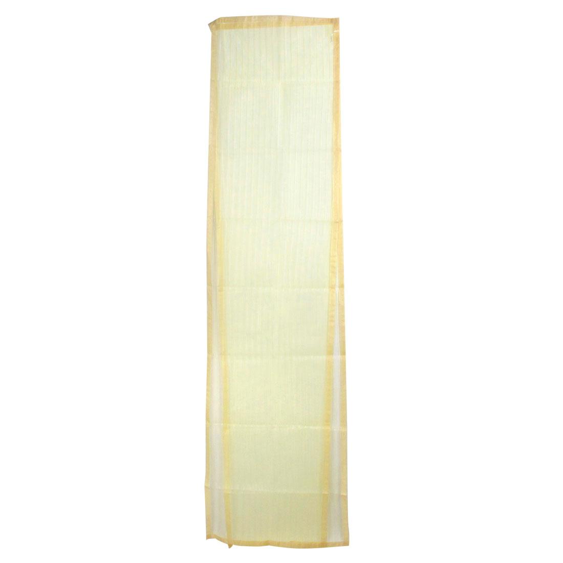"Beige Magnetic Fly Screen Anti Mosquitoes Door Curtain 39.4"" x 78.7"""