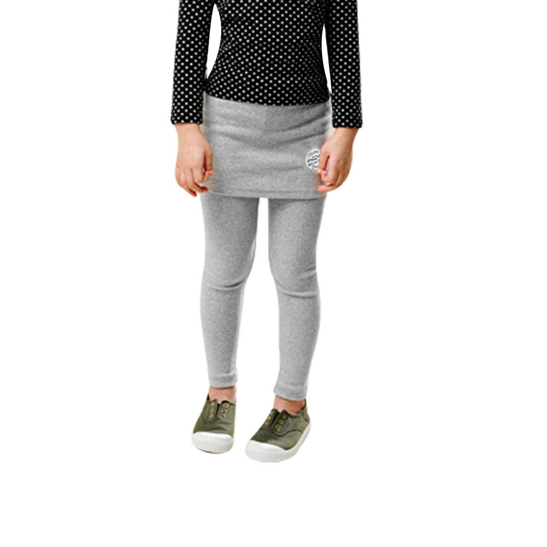Girls Korea Style Stretchy Waistband Stylish Pantskirt Leggings Gray EU 6