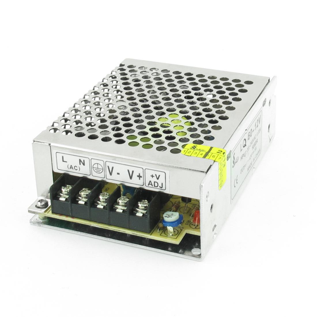 DC 12V 5A Switching Power Supply Driver for LED Strip light 200V-240V AC