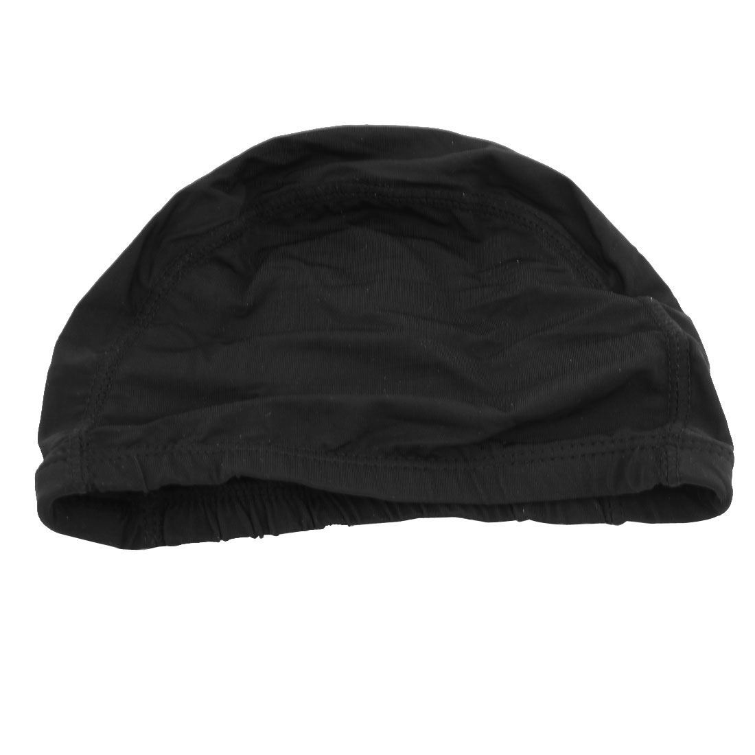 Adults Polyester Elastic Swim Hat Swimming Cap Black 7.9 Inch Long