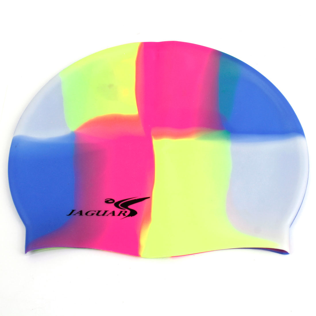 Dome Shaped Colorful Elastic Silicone Swimming Cap for Adults