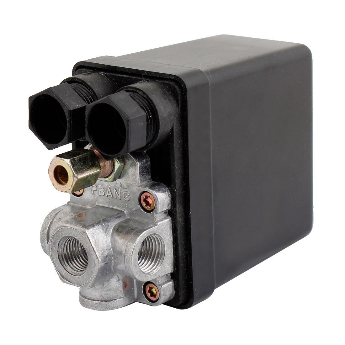Air Compressor Pump Pressure Switch Control Valve AC 240V 15A 175PSI 4 Ports