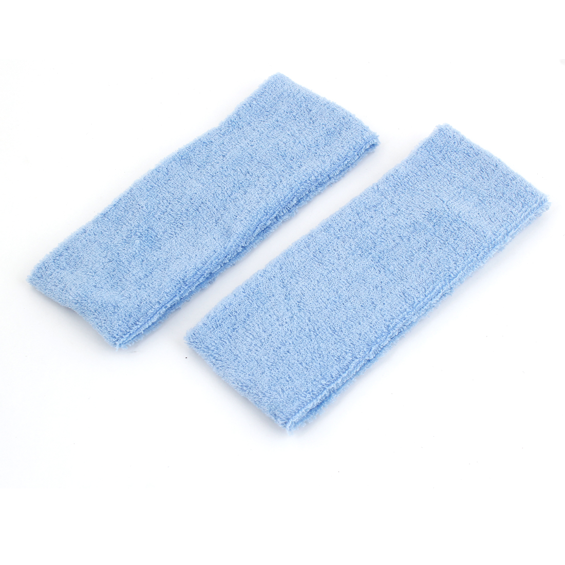 Lady Terry Elastic Fabric Headband Hair Holder Band Blue 2 Pcs