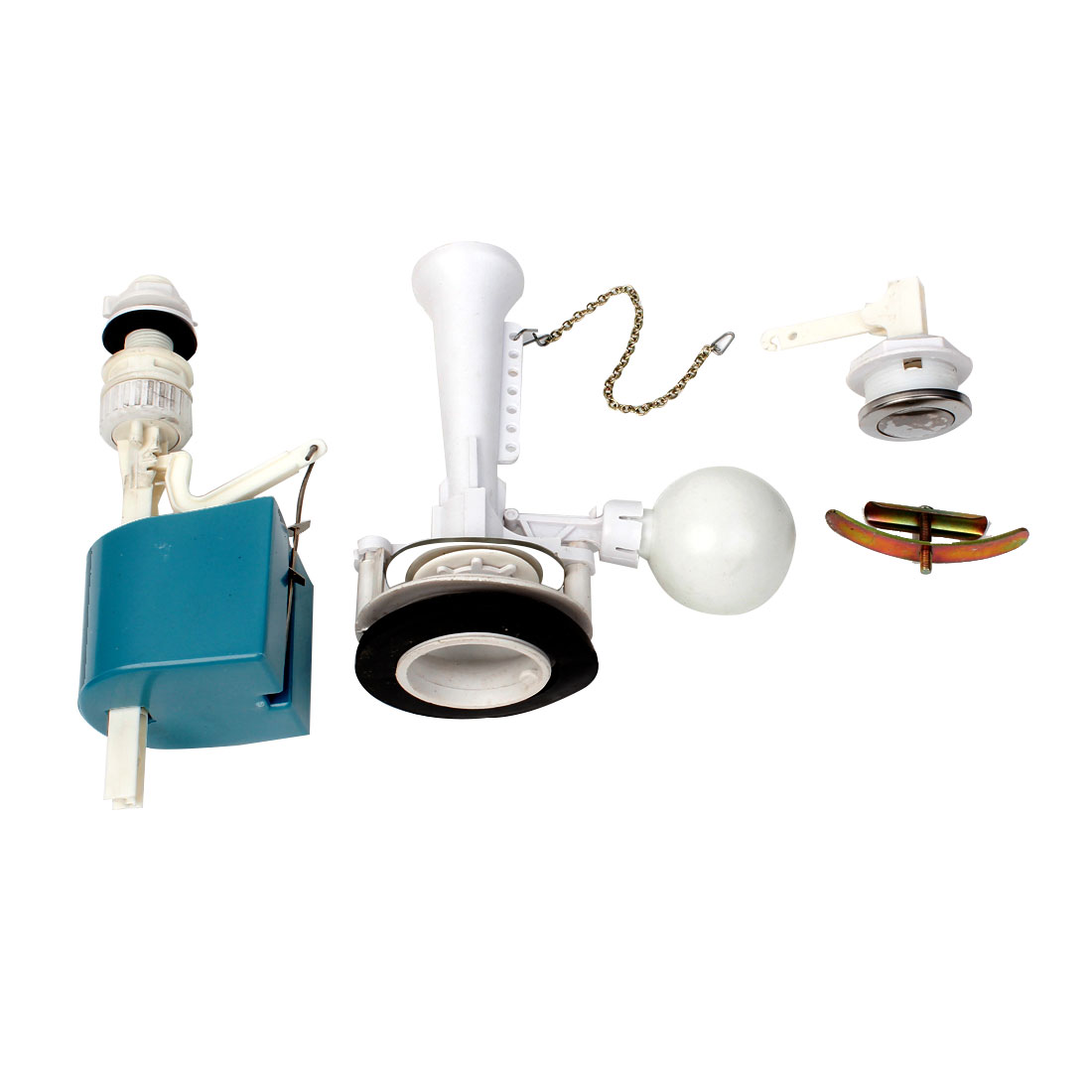 Universal Single Flush Toilet Cistern Inlet Outlet Valve Push Button Sets