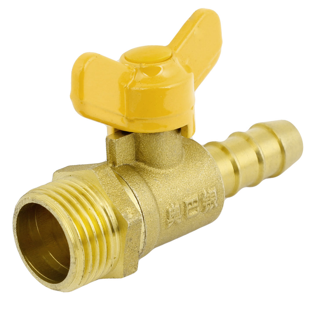 "Lever Handle 1/2""PT Male to 10mm Hose Tail Connector Gas Ball Valve"