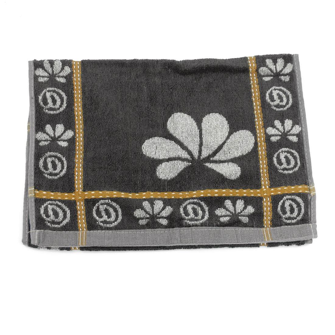 Black Gray Character Pattern Rectangular Facecloth Towel