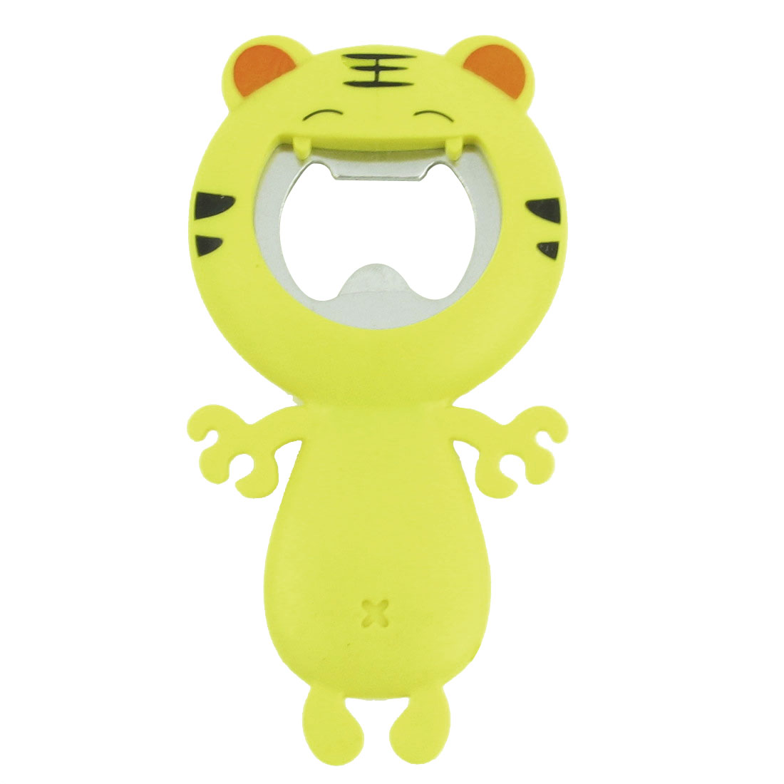 Kitchen Cartoon Tiger Design Yellow Big Mouth Bottle Opener