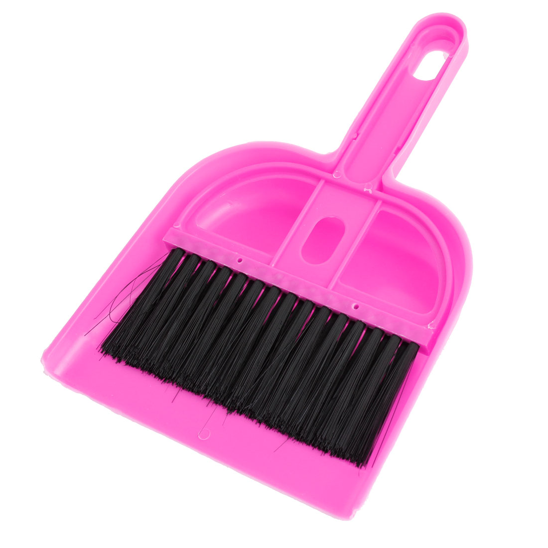 Handy Pink Black Plastic Bristle Car Computer Fan Brush Dustpan Cleanner Set