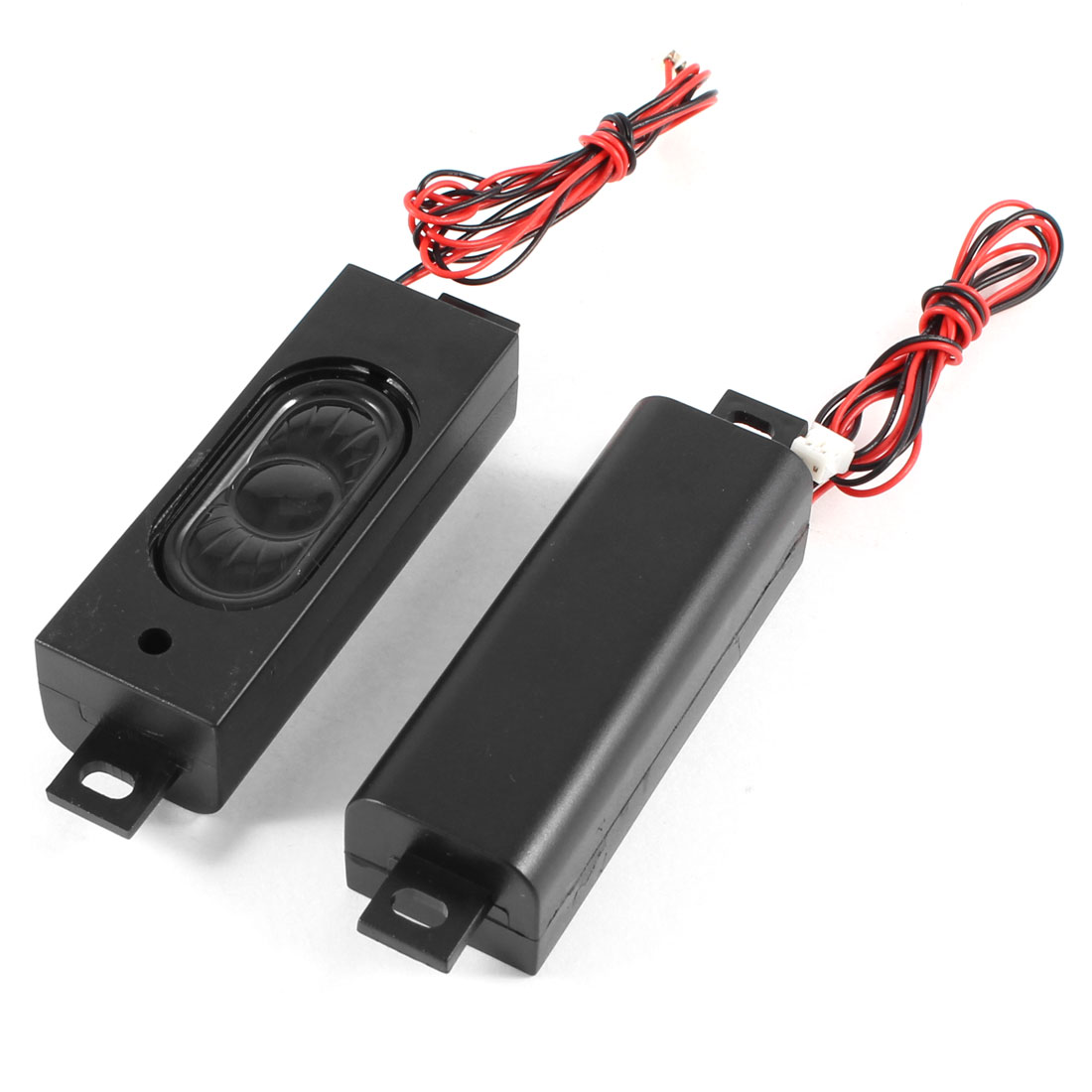 2 Pcs Black Plastic Shell 2 Leads Wires Audio Speaker Trumpet Loudspeaker 8 Ohm 2W