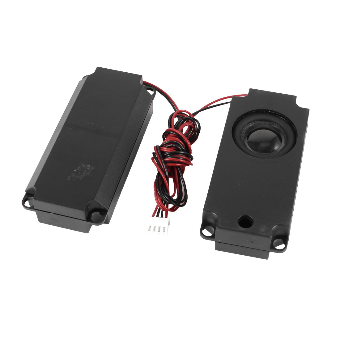 2pcs 100mm x 45mm x 21mm Plastic Shell 2-Leads Audio Speaker Black 4 Ohm 3W