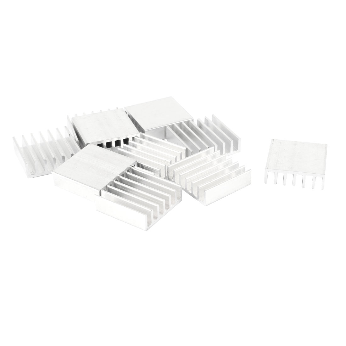 10pcs Aluminum Heatsink Cooling Fin 20mm x 20mm x 6mm for Power Transistor