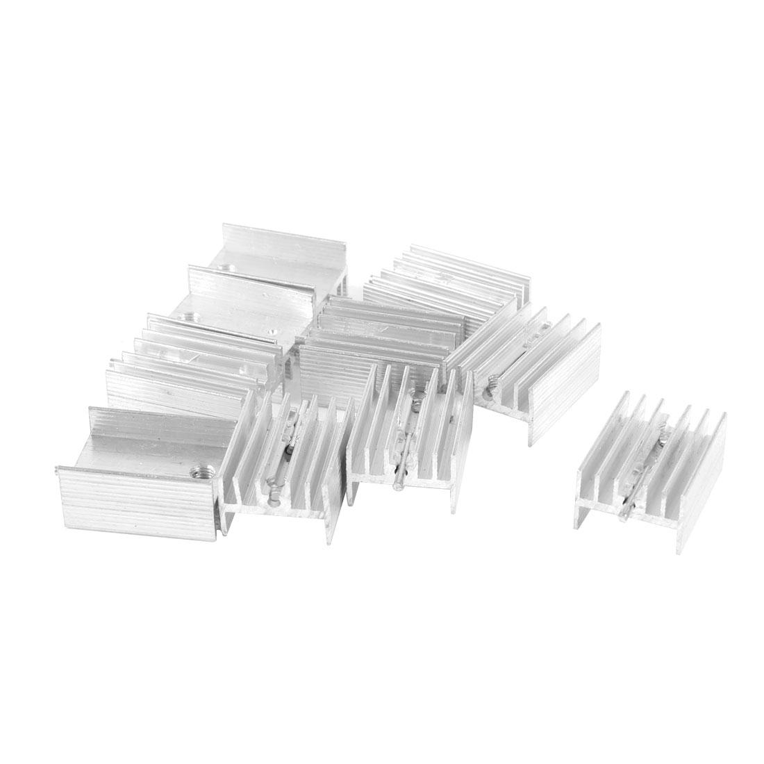 10pcs Aluminum Heatsink Cooling Fin 20mm x 15mm x 10mm for Power Transistor