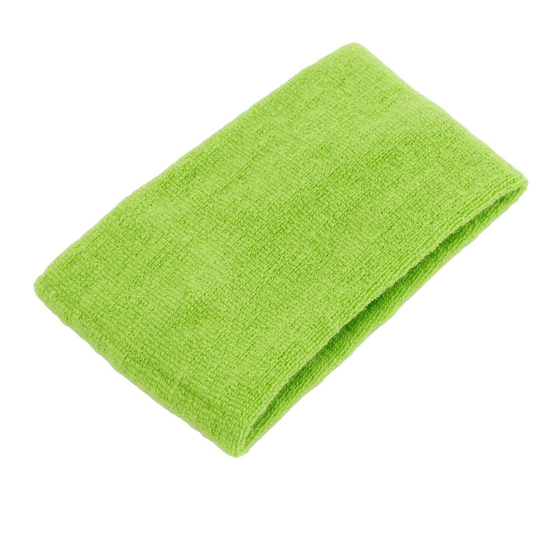 Adults Sport Rectangle Stretchy Brace Protect Green Wristband Support