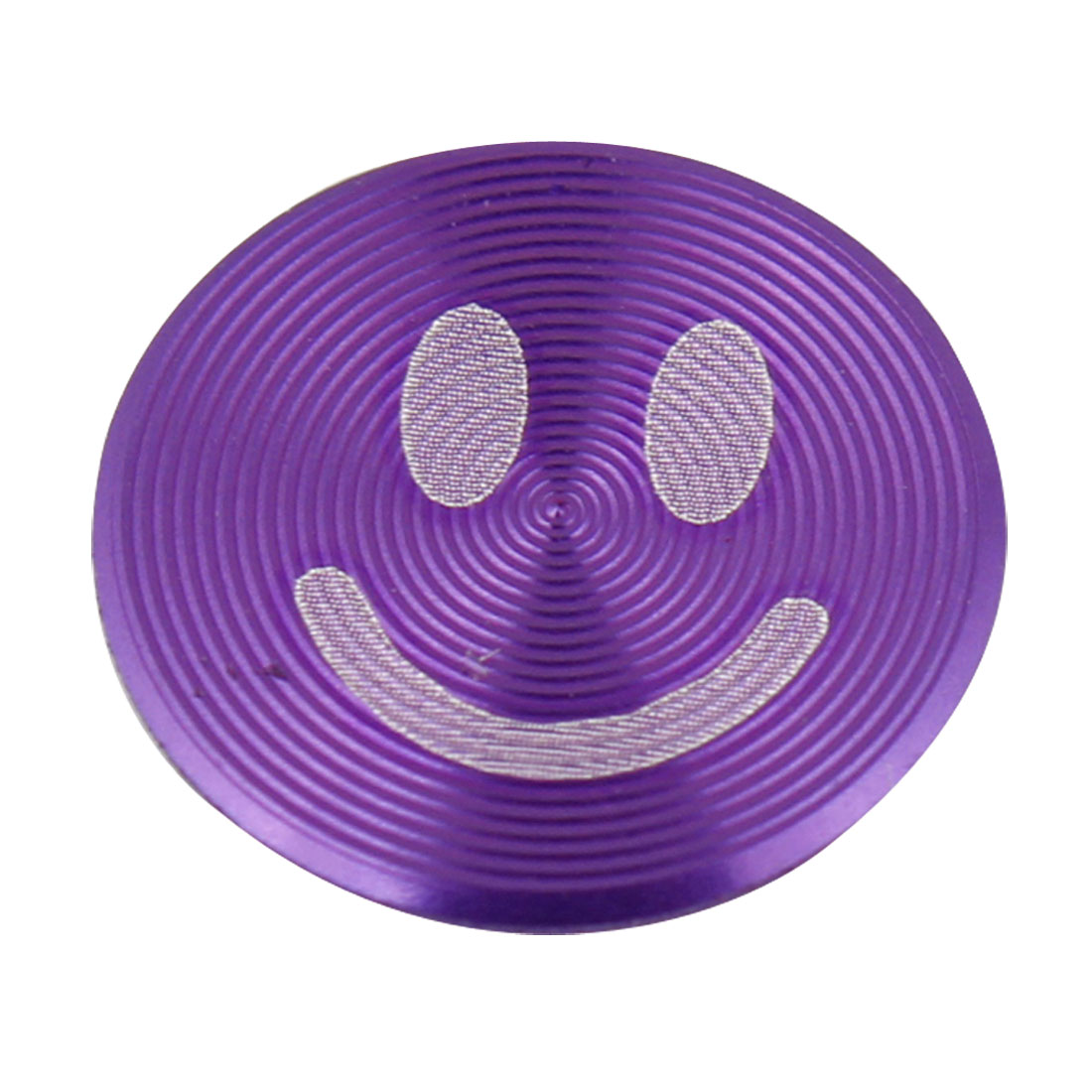 Metal Purple Smiling Face Home Button Stickers for Phone