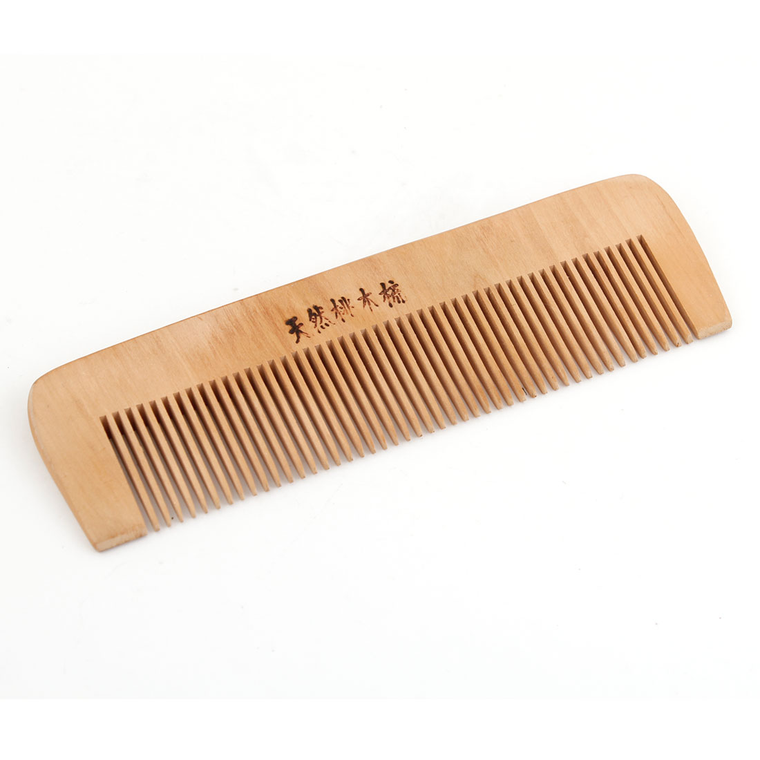 Handcrafted Wood 2mm Teeth Natural Wooden Toothed Head Dressing Hair Health Comb