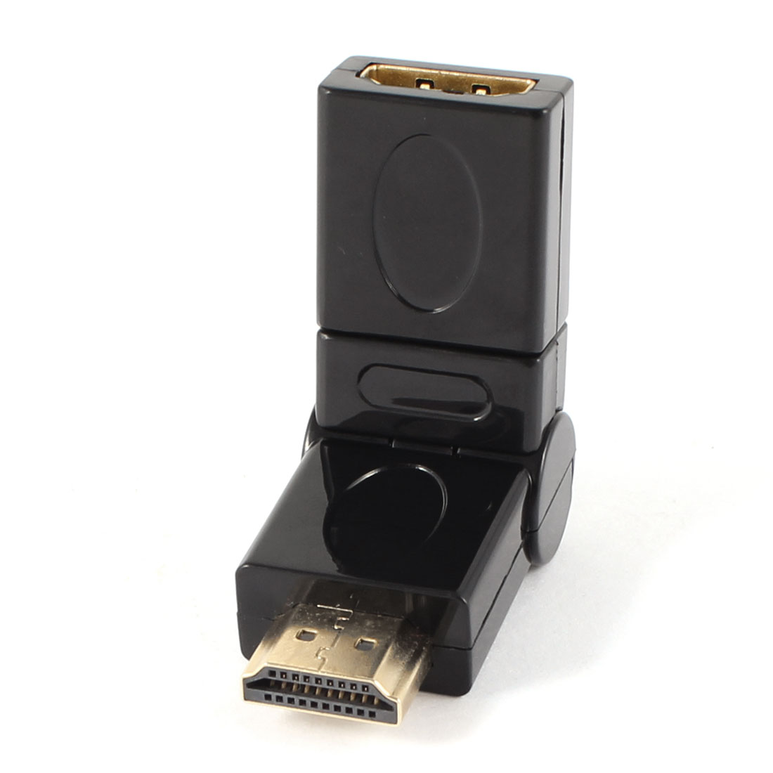Black HDMI Male to Female 180 Degree Rotatable Adapter Connector